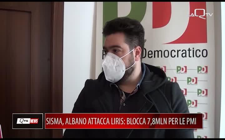 SISMA, ALBANO CONTRO LIRIS: BLOCCA 7,8MLN PER LE PMI