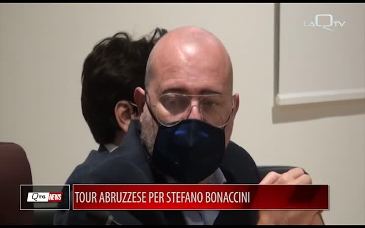 Tour abruzzese per il presidente della Regione Emilia Romagna Stefano Bonaccini