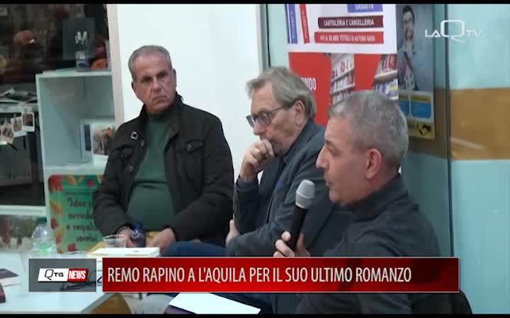 REMO RAPINO (PREMIO CAMPIELLO 2020) A L'AQUILA PER IL SUO ULTIMO ROMANZO